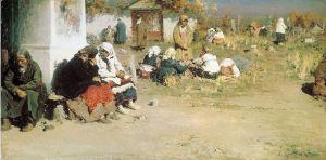 Радоница (перед обедней). А.Е. Архипов (1892)